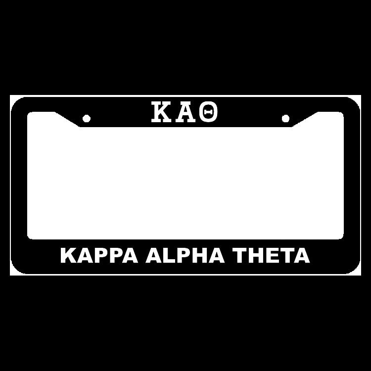 Kappa Alpha Theta License Plate Frame