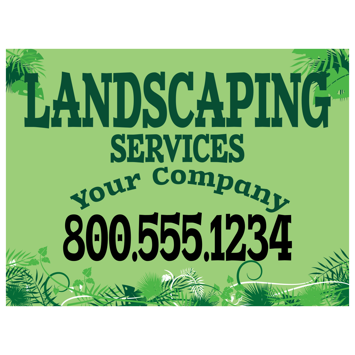 Landscaping Magnet Template