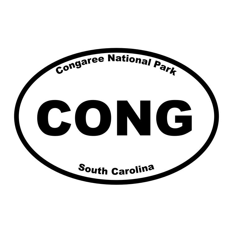Congaree National Park Oval Sticker