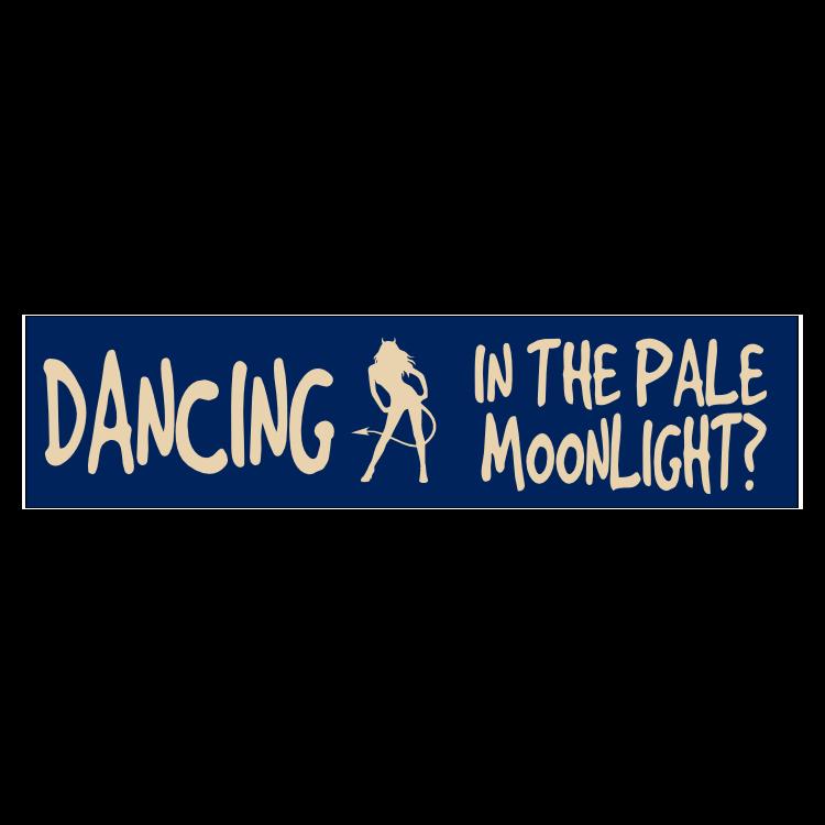 Pale Moonlight Customizable Bumper Sticker