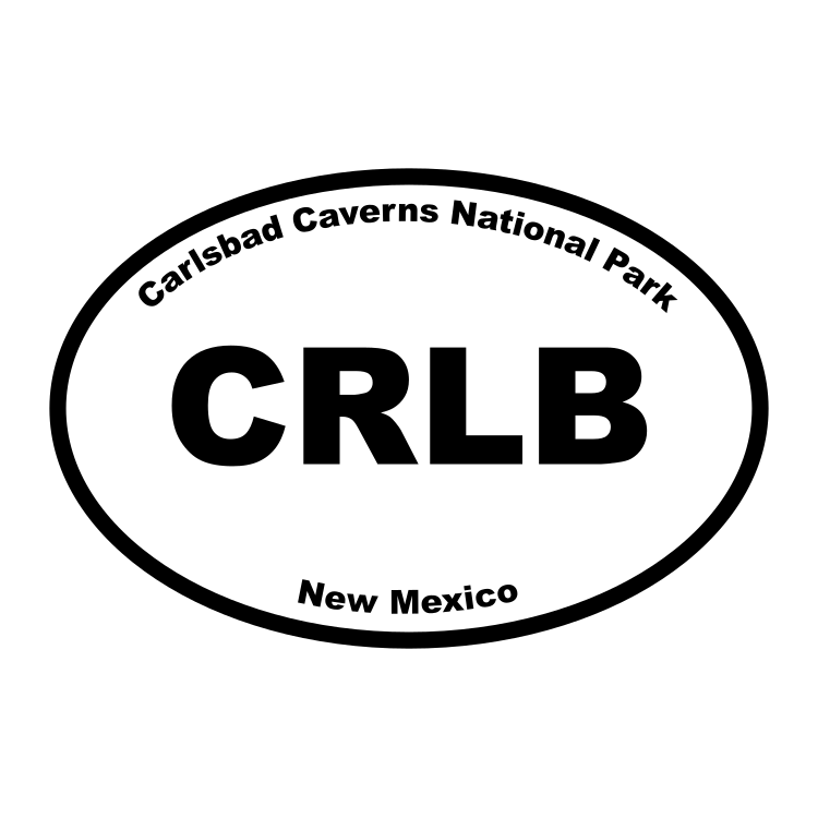 Carlsbad Caverns National Park Oval Sticker