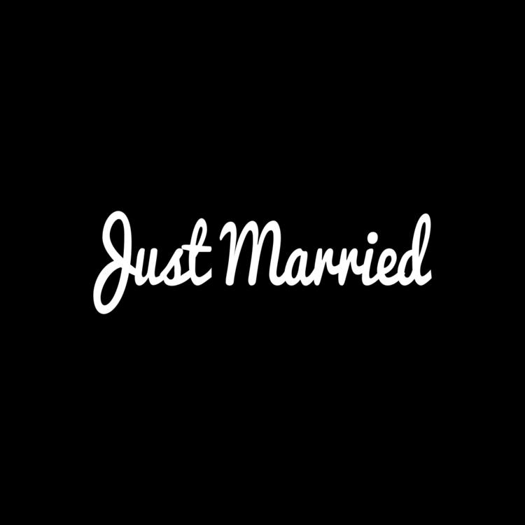 Just Married Customizable Bumper Sticker
