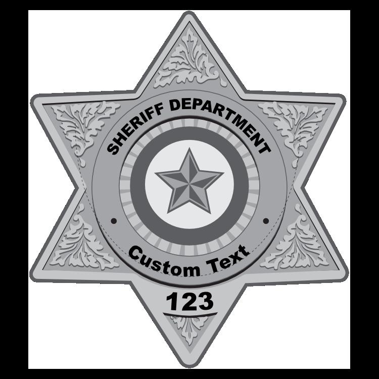 Custom Silver Sheriff Badge Magnet