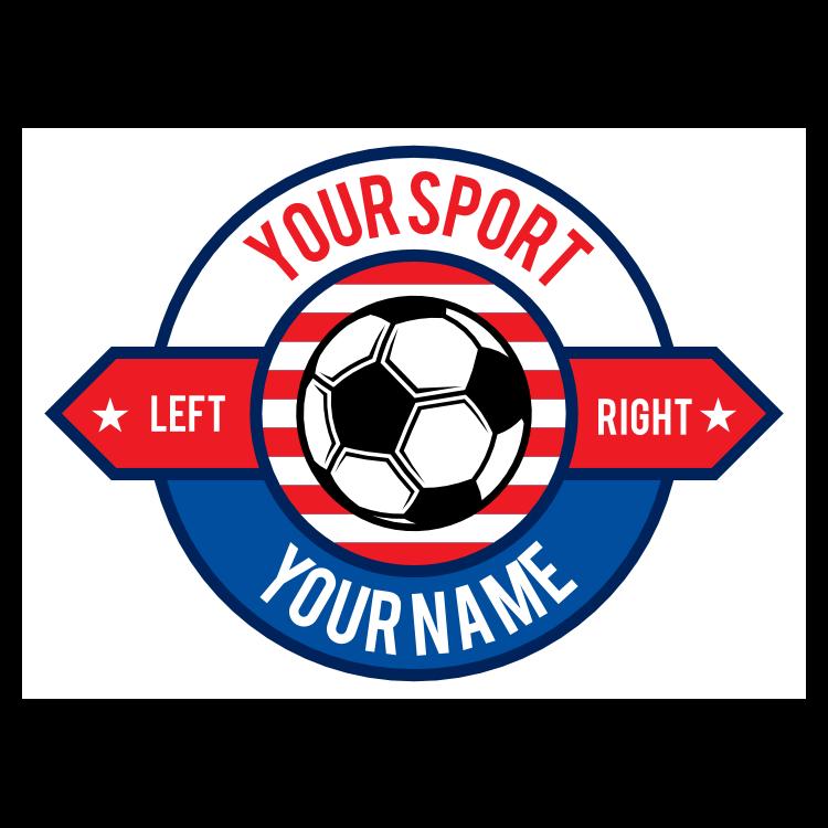Custom Circle Sign Soccer Sticker