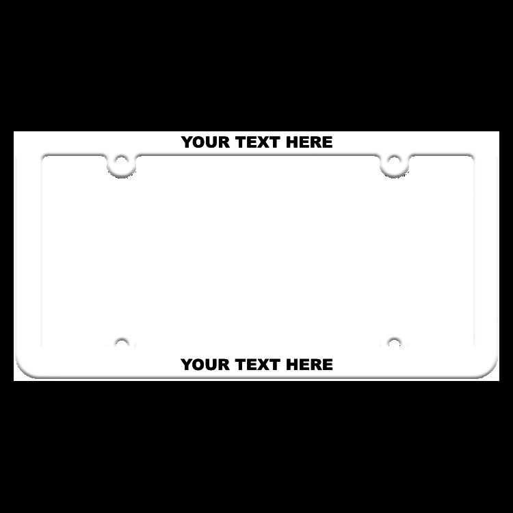 Thin Top-Thin Bottom Custom Silk Screen White Plastic Frame