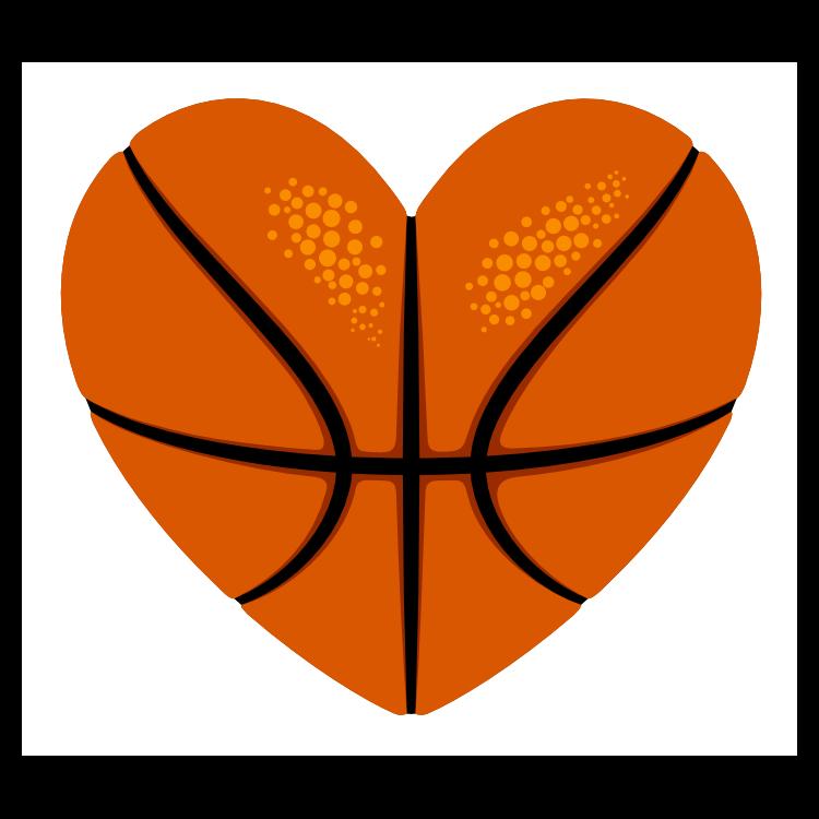 Custom Heart-Love Basketball Sticker