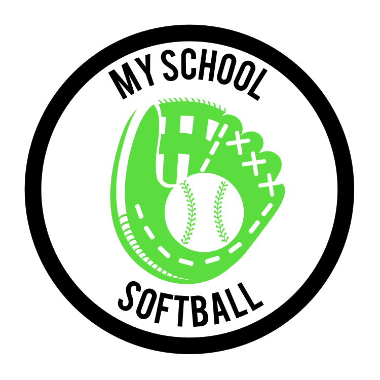 Custom Softball Mitt Circle Magnet