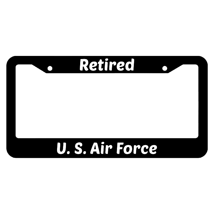 Retired United States Air Force License Plate Frame