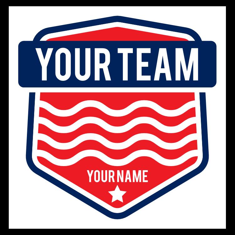 Custom Swim Team Shield Sticker