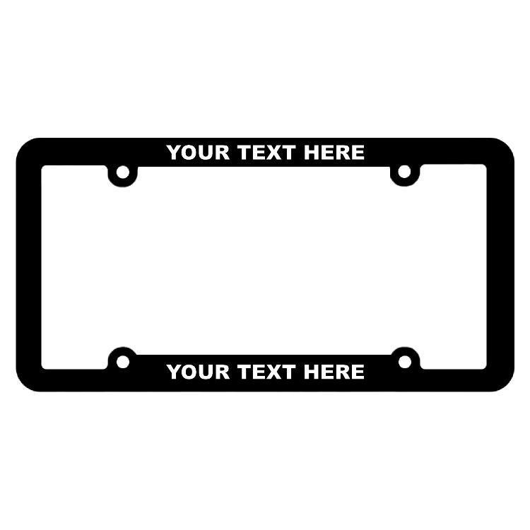Thin Top-Medium Bottom Customizable Silk Screened Black Frame