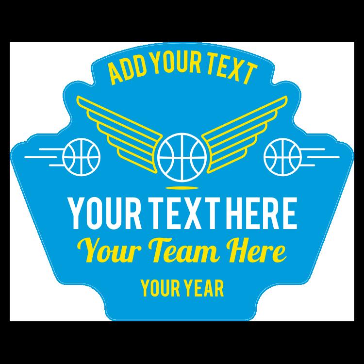 Custom Retro Basketball Patch Sticker