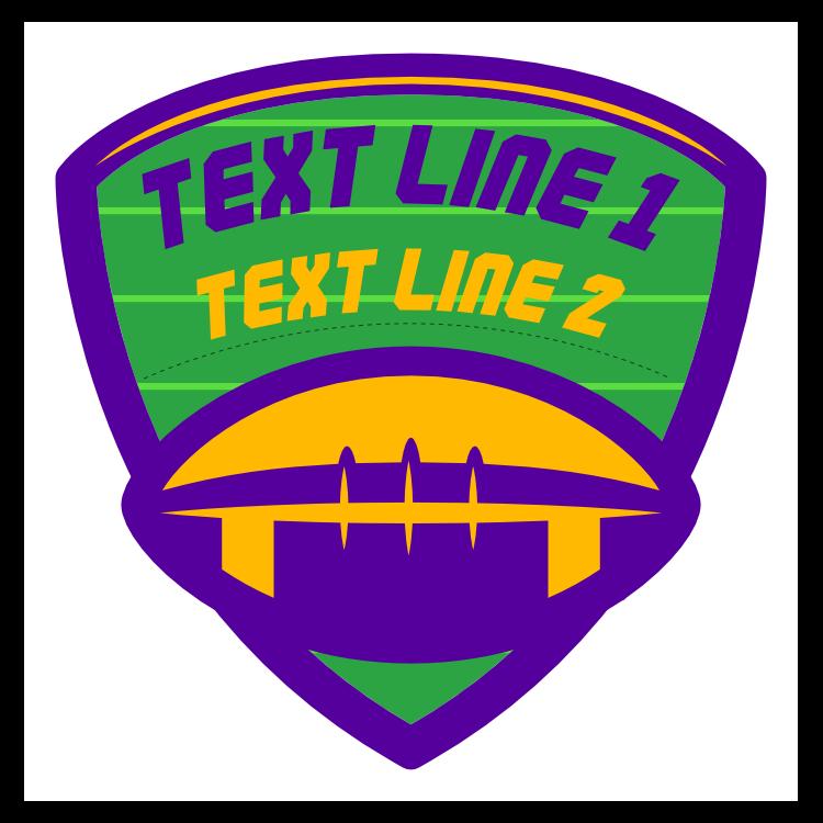 Custom Football Shield with Team Colors
