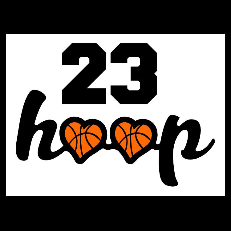 Custom Hoop Basketballs with your Number Sticker