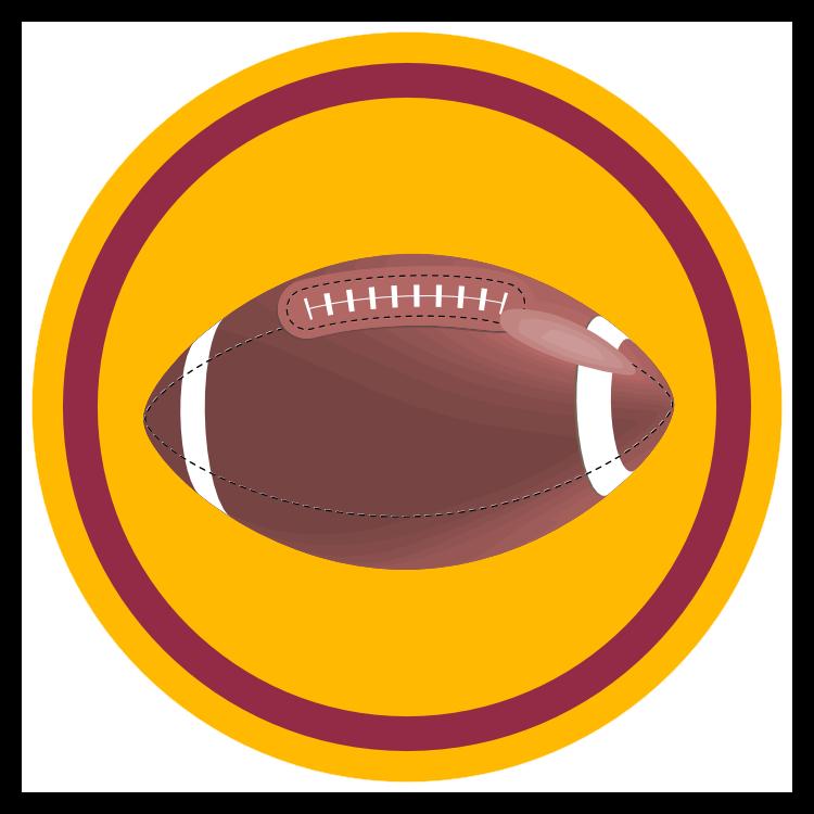 Custom Football Circle Sticker