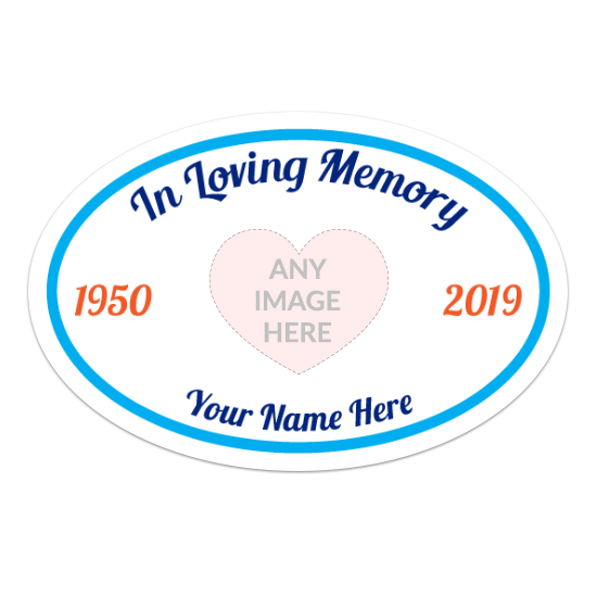 In Loving Memory Oval Sticker