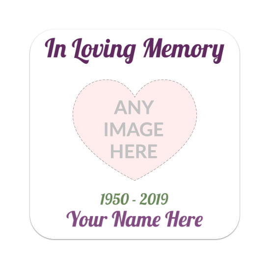 Custom In Loving Memory Rounded Rectangle Stickers