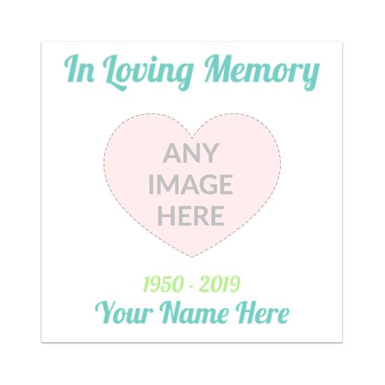 Custom In Loving Memory Rectangle Stickers