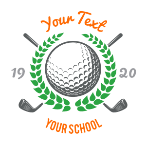 Custom Golf Clubs with Leaves Circle Sticker
