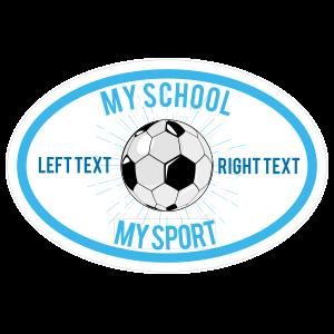 Custom Full Oval Soccer Burst Sticker