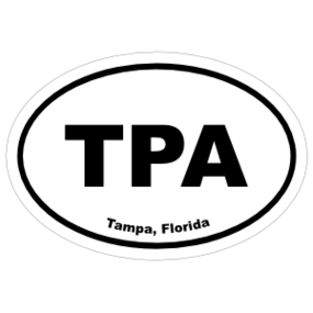 Tampa, Florida Oval Stickers