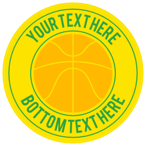 Custom Simple Basketball Circle Sticker