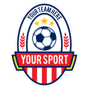 Custom Pendant Soccer Sticker