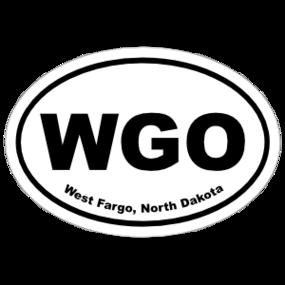 West Fargo, North Dakota Oval Stickers