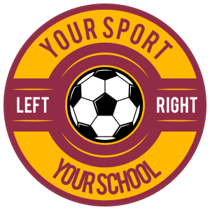 Custom Screw Top Circle Soccer Sticker