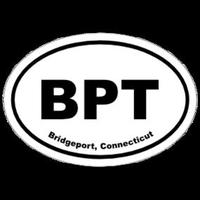 Bridgeport, Connecticut Oval Stickers