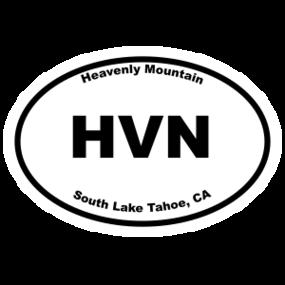 Heavenly Mountain Oval Sticker