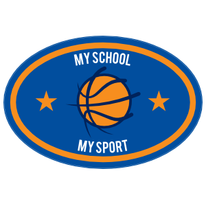 Custom Text Oval with Stars Basketball Sticker