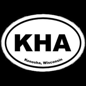 Kenosha, Wisconsin Oval Stickers