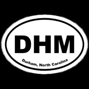 Durham, North Carolina Oval Stickers