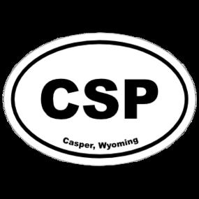Casper, Wyoming Oval Stickers