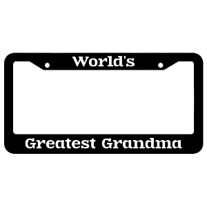World's Greatest Grandma License Plate Frame