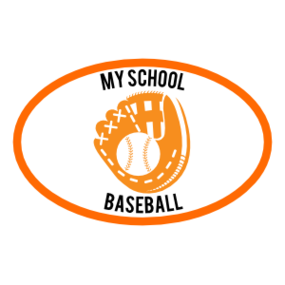 Custom Baseball Mitt Oval Magnet