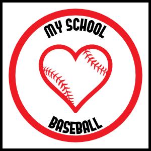 Custom Love Baseball Circle Magnet