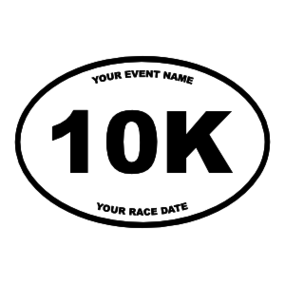 Custom 10K Oval Sticker with Your Text