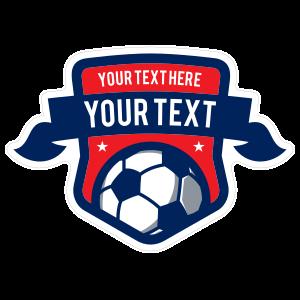 Custom Soccer Shield with Banner Sticker