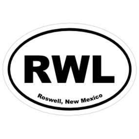 Roswell, New Mexico Oval Stickers