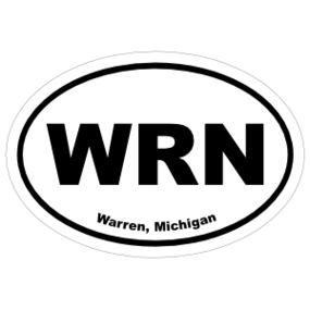 Warren, Michigan Oval Stickers