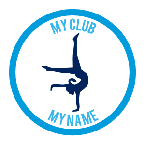Custom Handstand Gymnast Circle Sticker
