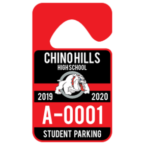 Mascot High School Hang Tag Parking Permit
