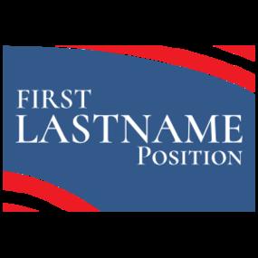 Custom Campaign Flag Rectangle Sticker