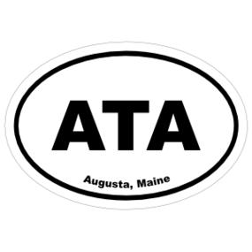 Augusta, Maine Oval Stickers