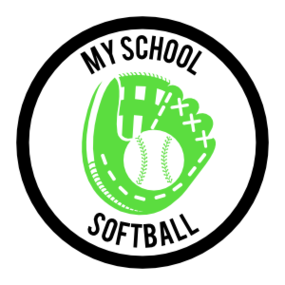 Custom Softball Mitt Circle Sticker