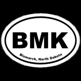 Bismarck, North Dakota Oval Stickers