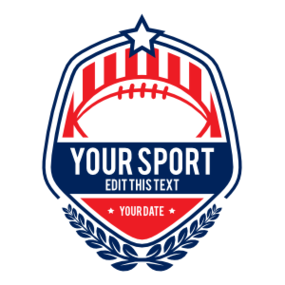 Custom Football Patch with Stripes and Stars Sticker