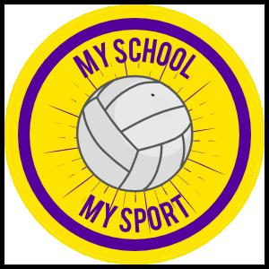 Custom Volleyball Circle Burst Sticker
