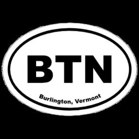 Burlington, Vermont Oval Stickers